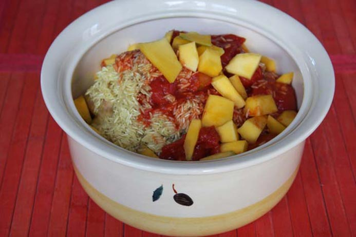 baked chicken and mango curry recipe
