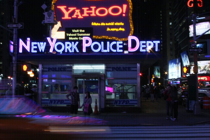 Photograph of New York City at night in Times Square from Melanie May's photography portfolio