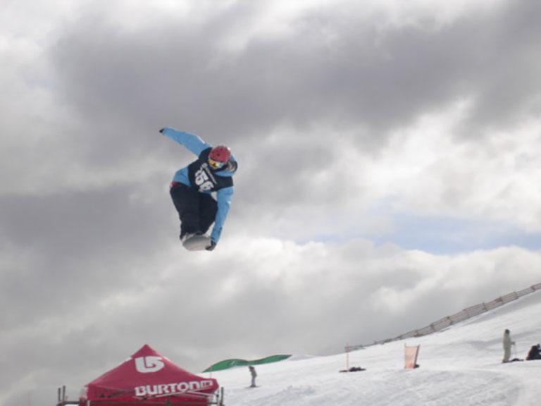 Snowsports photographer at Burton Open, New Zealand