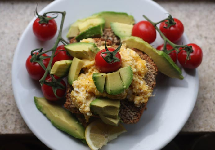 Scrambled Eggs Avocado Toast Recipe
