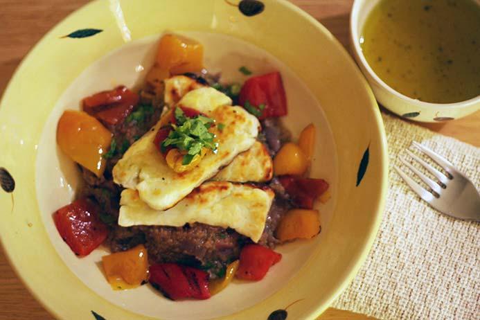 quinoa salad with halloumi recipe
