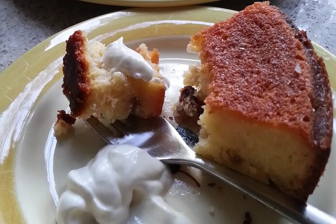 Serve with yoghurt or cream - Lemon yoghurt cake recipe