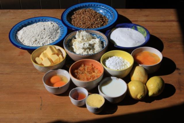 Pastiera Napoletana ingredients