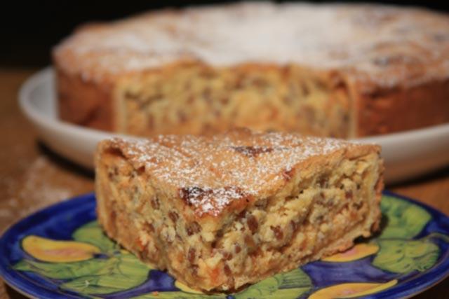 Slice of pastiera Napoletana cake