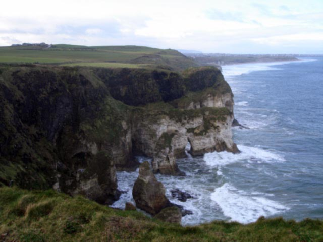 The wild coastline of Co. Antrim in Ireland