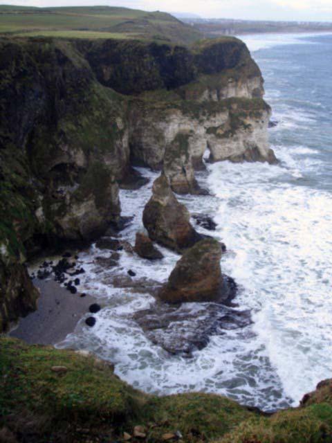 The wild coastline of Co. Antrim, Ireland