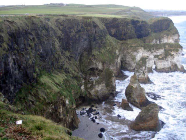 The rugged coastline of Co. Antrim in Ireland