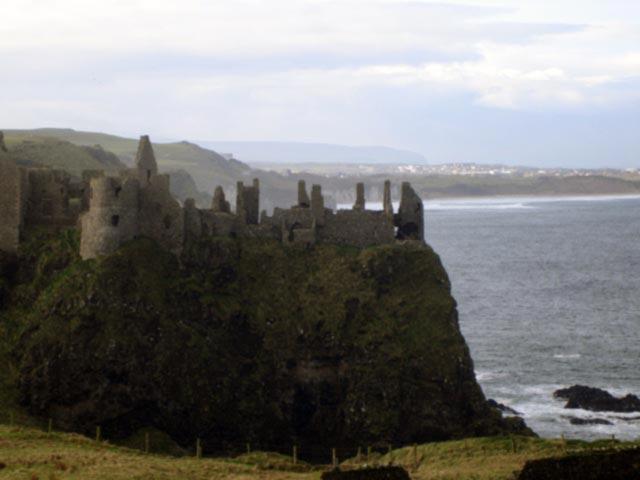 Dunluce Castle in Co. Antrim Ireland