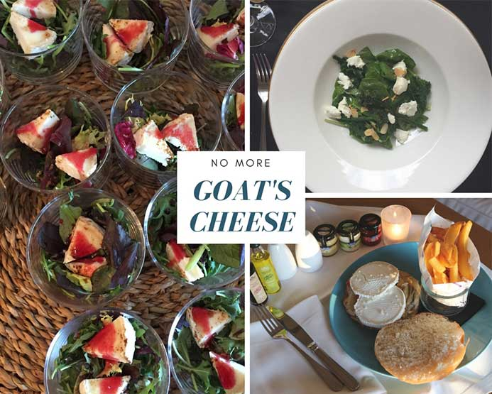 A collection of goat's cheese dishes