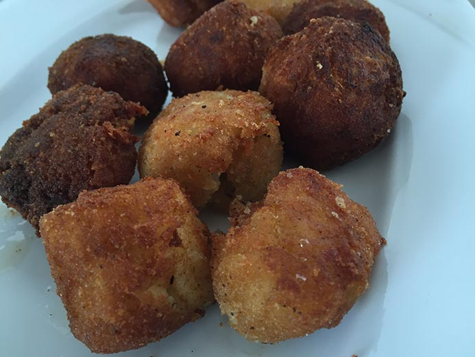 A plate of fried breaded vegetables