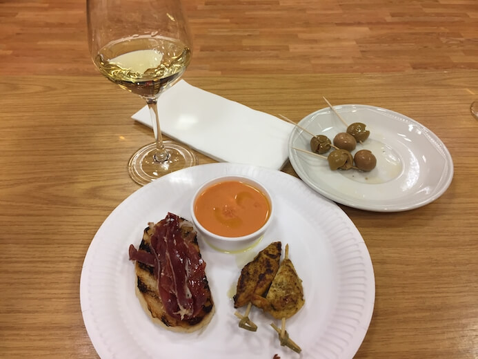 Spanish food and wine pairing workshop