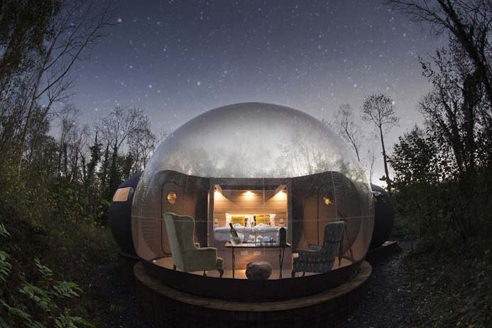 Finn Lough Bubble Domes in County Fermanagh Northern Ireland