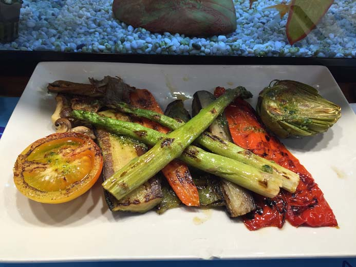 La Boqueria Food Market in Barcelona grilled vegetables