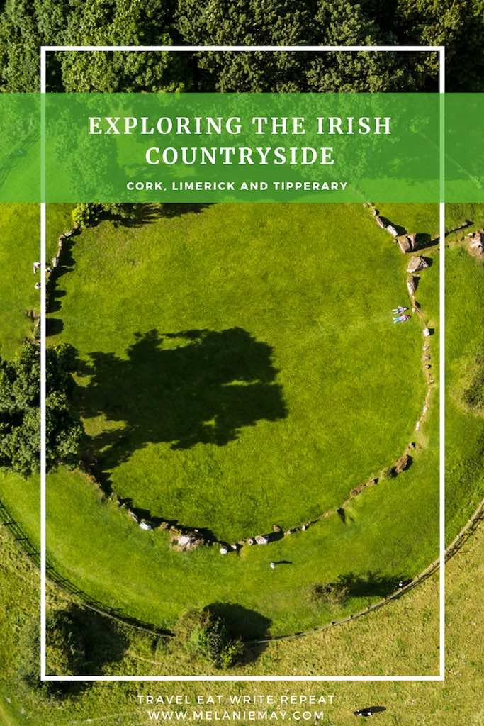 Southern Ireland travel guide. Munster Vales Ireland Travel Guide. Aerial photograph of Munster Vales and the green fields.