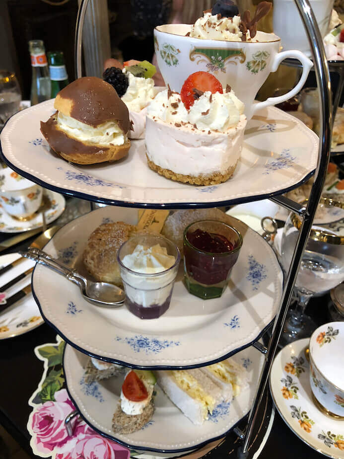 Cafe Townhouse Doneraile review of the scrumptious afternoon tea served on china cake stands