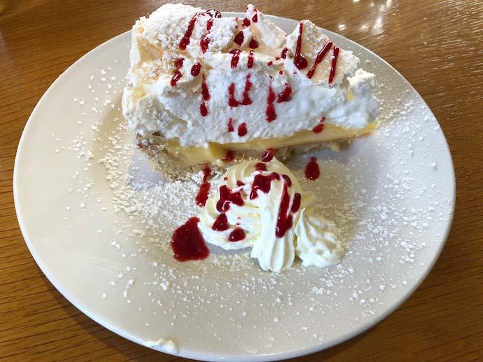 Deebert House Hotel review - lunch Lemon Meringue pie in The Cloisters Restaurant in the Deebert House Hotel in Kilmallock, Co. Limerick.