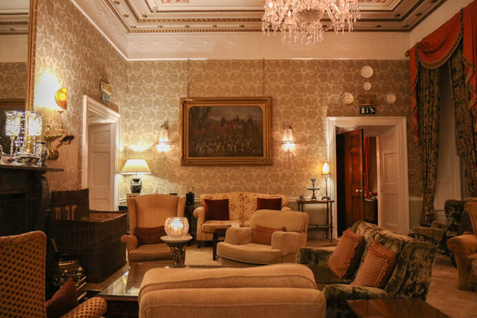 Longueville House Cork review - this is a stunning four-star heritage-listed Georgian property in Mallow Co. Cork in Ireland. This is the relaxing in the lounge.