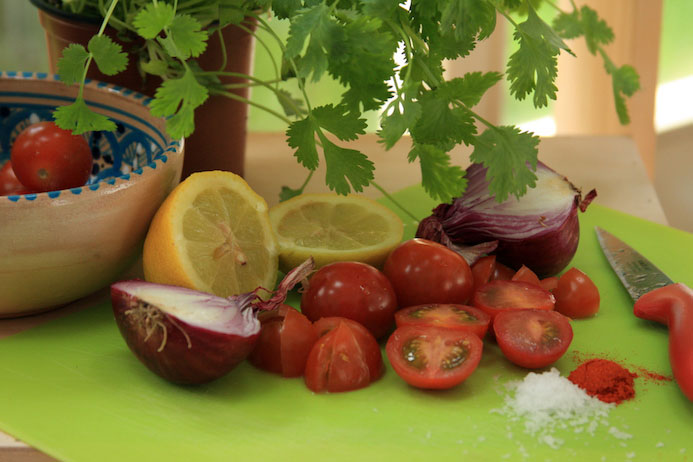 Spicy Indian tomato salad recipe Indian food