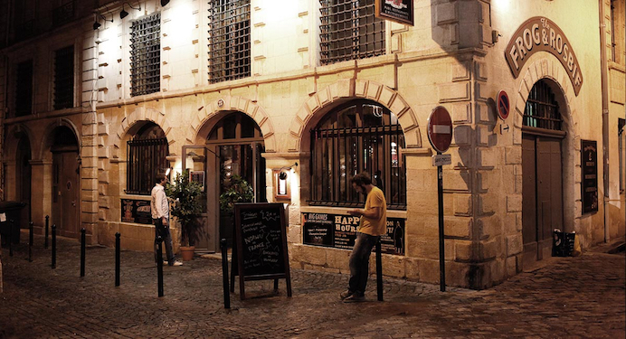 Bordeaux Travel Tips Frog and Rosbif pub