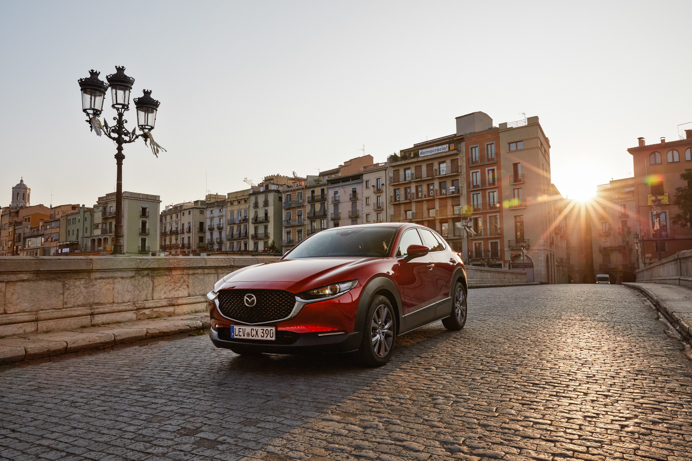 Mazda CX-30 road trip from Barcelona to Girona.