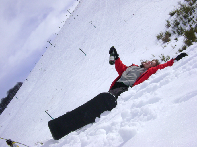 Getting ski fit. Melanie May on the ski slopes in Argentina.