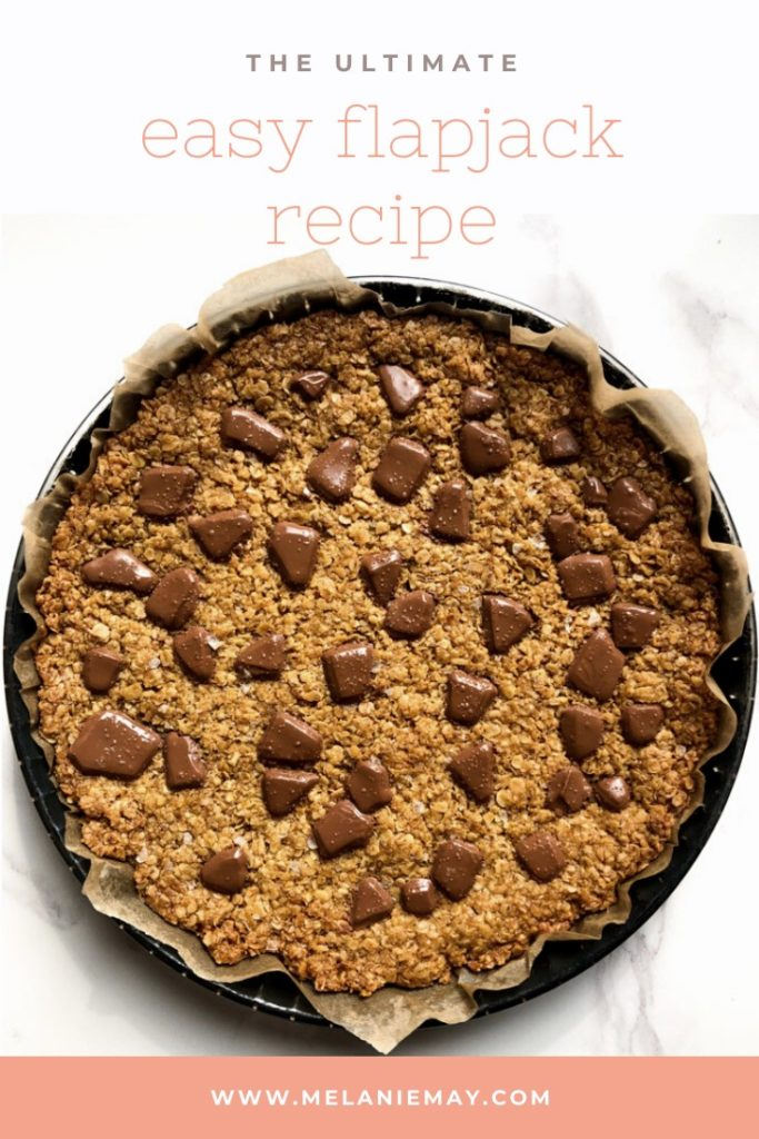 The ultimate easy flapjack recipe pinterest image