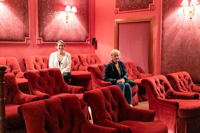 The private cinema at Glenlo Abbey Hotel