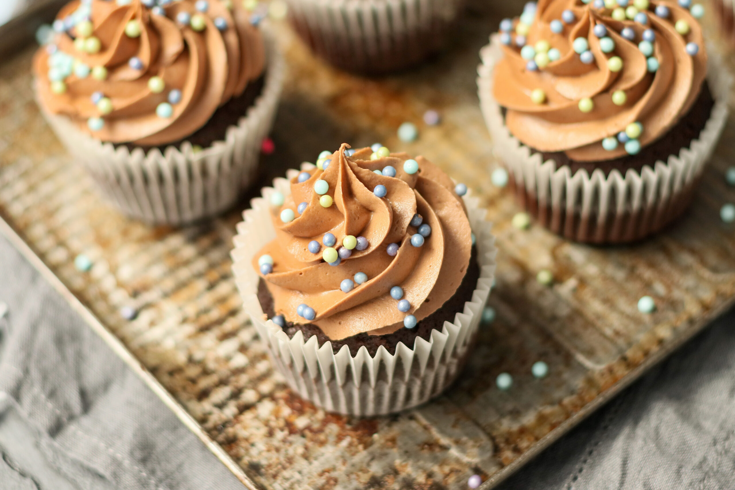 Chocolate cupcakes - food photography and styling by Melanie May