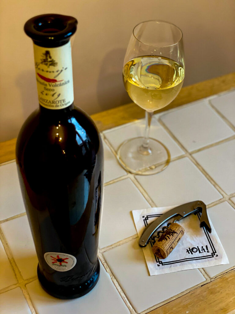 White wine bottle and glass of wine