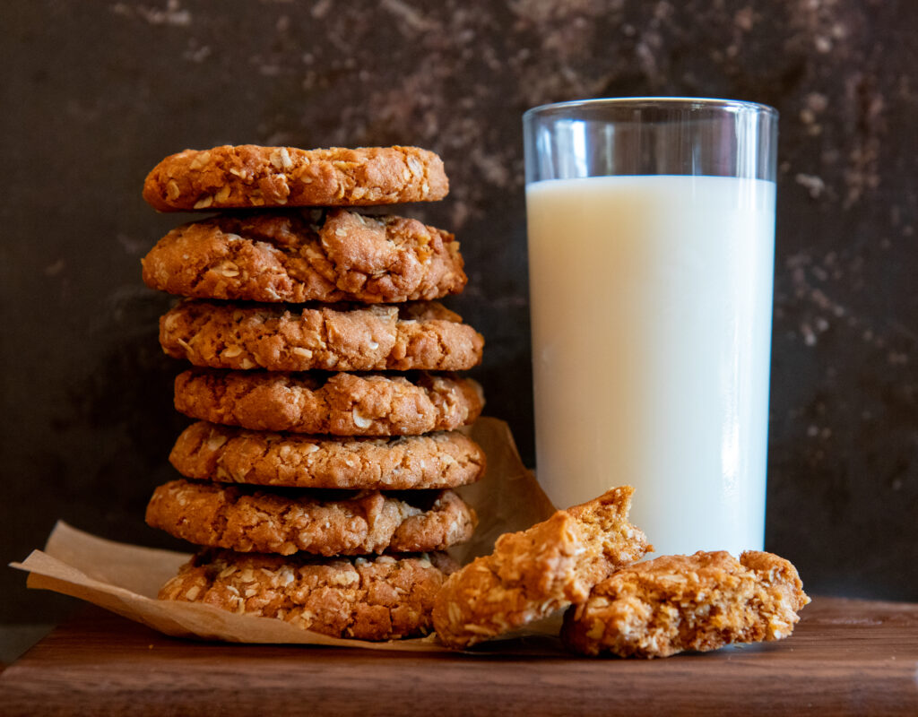 Food photography and styling Milk and Cookies