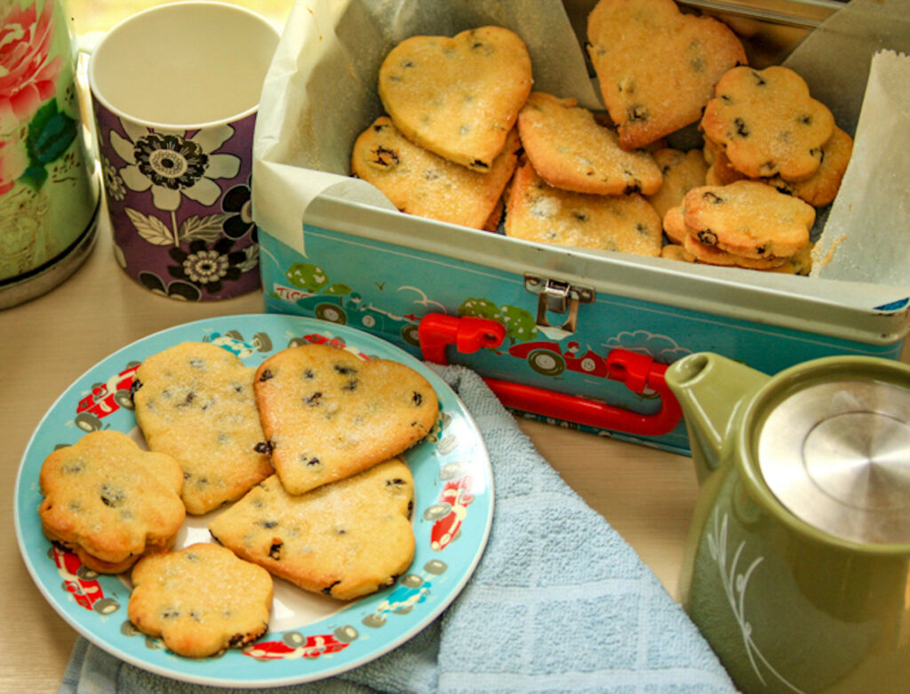 Heart-shaped Shrewsbury Biscuits - recipe and food photography by Melanie May